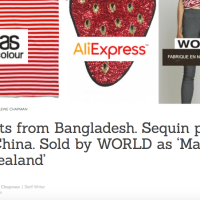 """Made in New Zealand from imported goods"" - A note on WORLD's greenwashing expose"