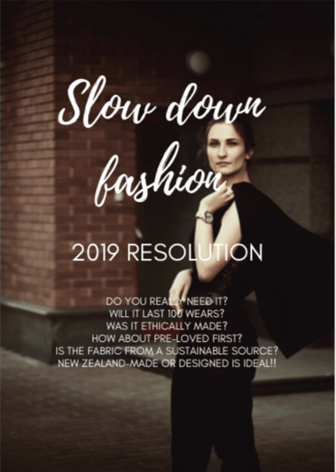 Find out how to slow your fashion down in 2019